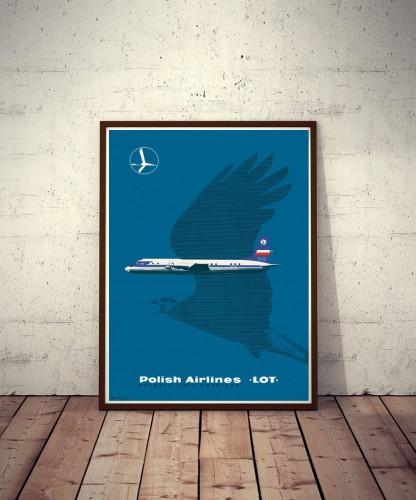 Plakat No 04 Polskie Linie Lotnicze Lot Polish Airlines Lot